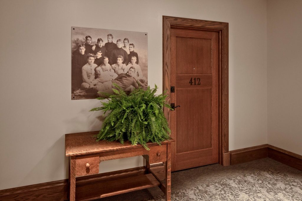 Hall Table and Apartment Door   Academy Place