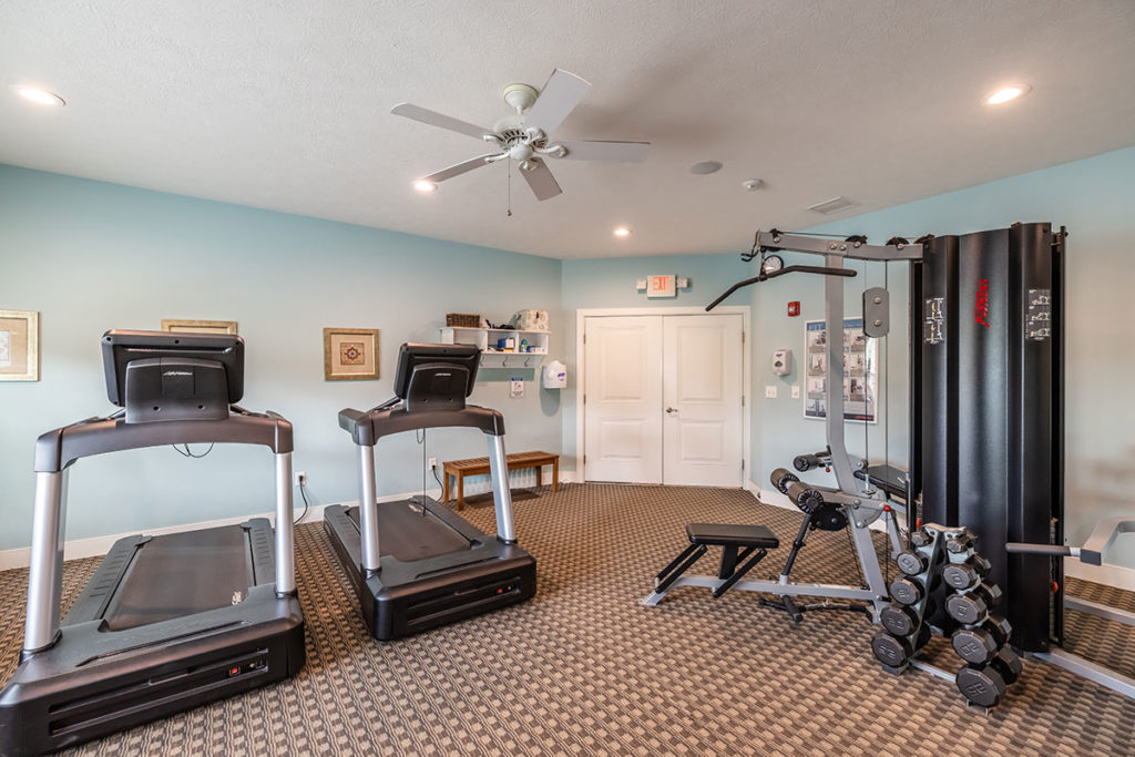 Fitness Center with Readmills and Weight Machine