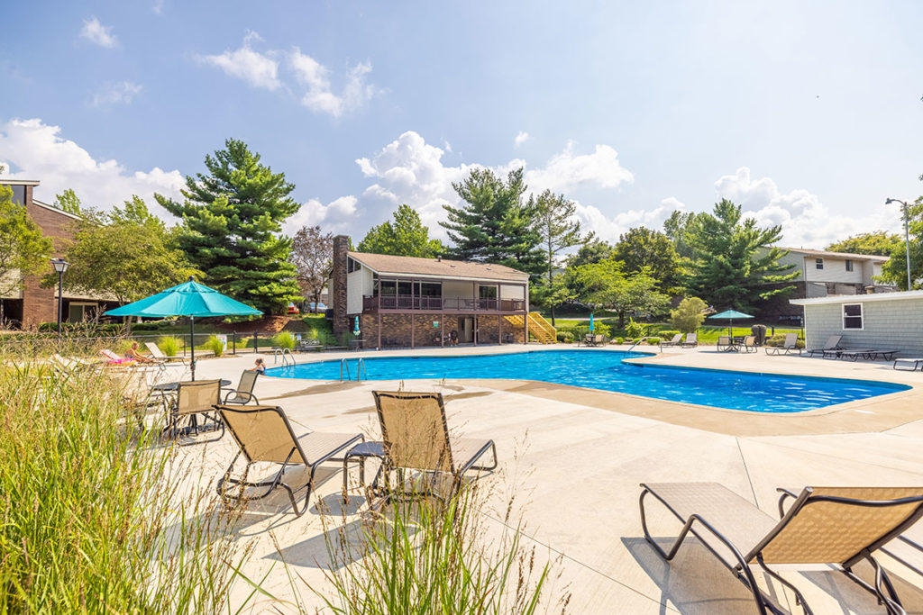 Swimming Pool and Sundeck Area at Willowood Village Apartments and Townhomes